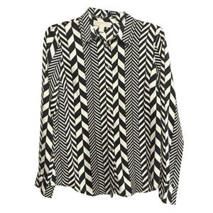 Michael Kors patterned chevron shirt